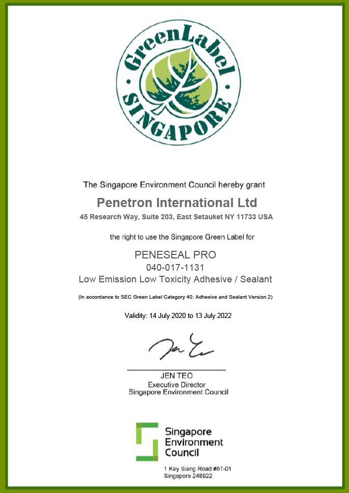 Singapore Green - PENESEAL PRO